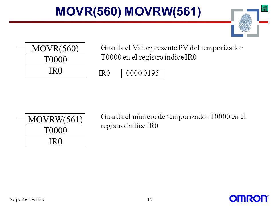 MOVR(560) MOVRW(561) MOVR(560) T0000 IR0 MOVRW(561) T0000 IR0