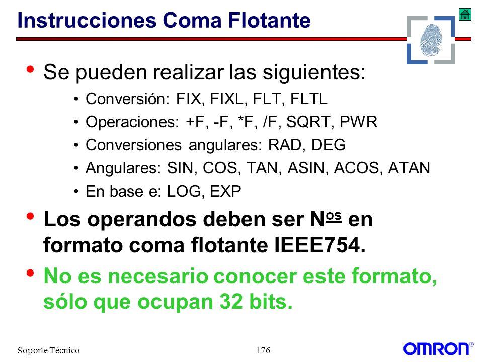 Instrucciones Coma Flotante