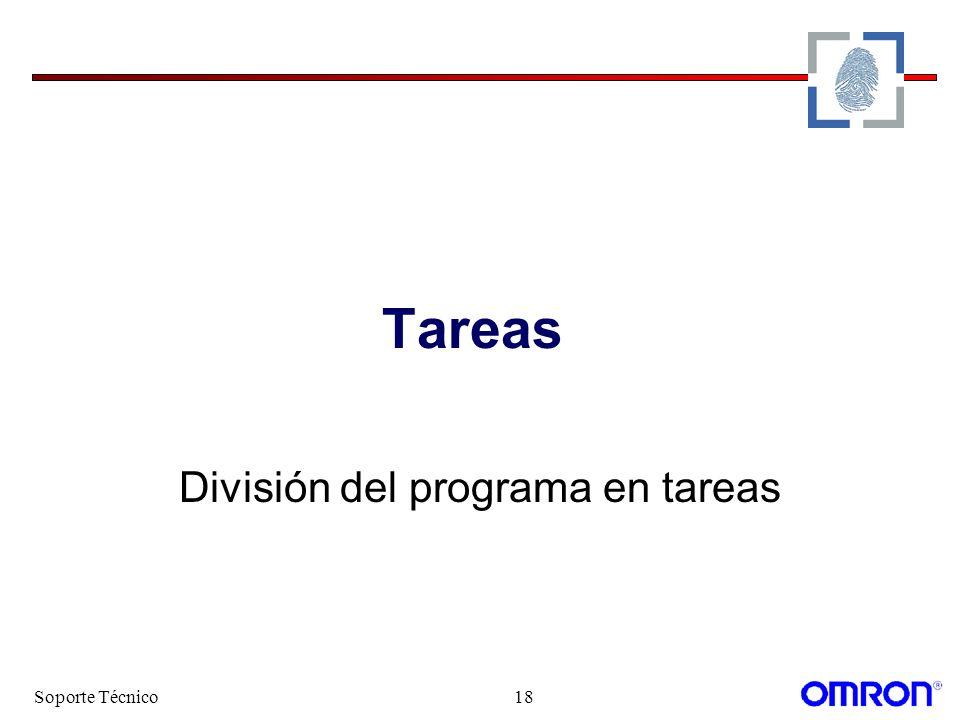 División del programa en tareas