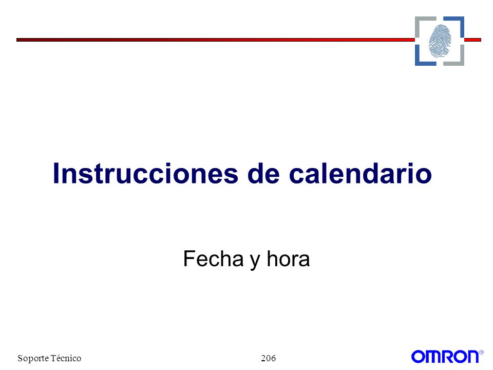 Instrucciones de calendario