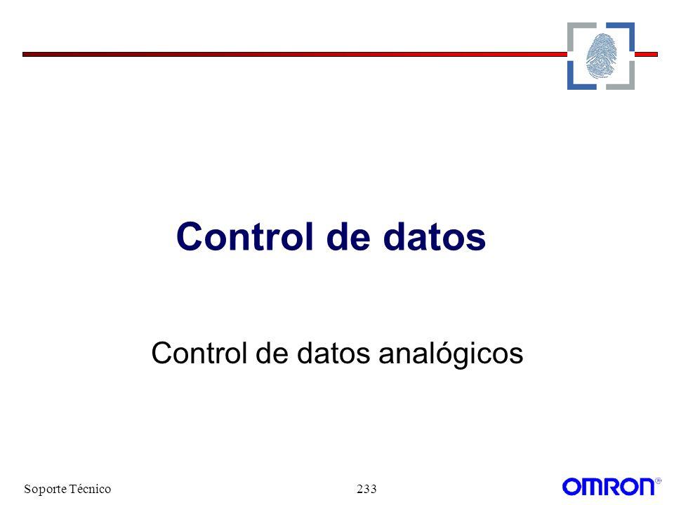 Control de datos analógicos