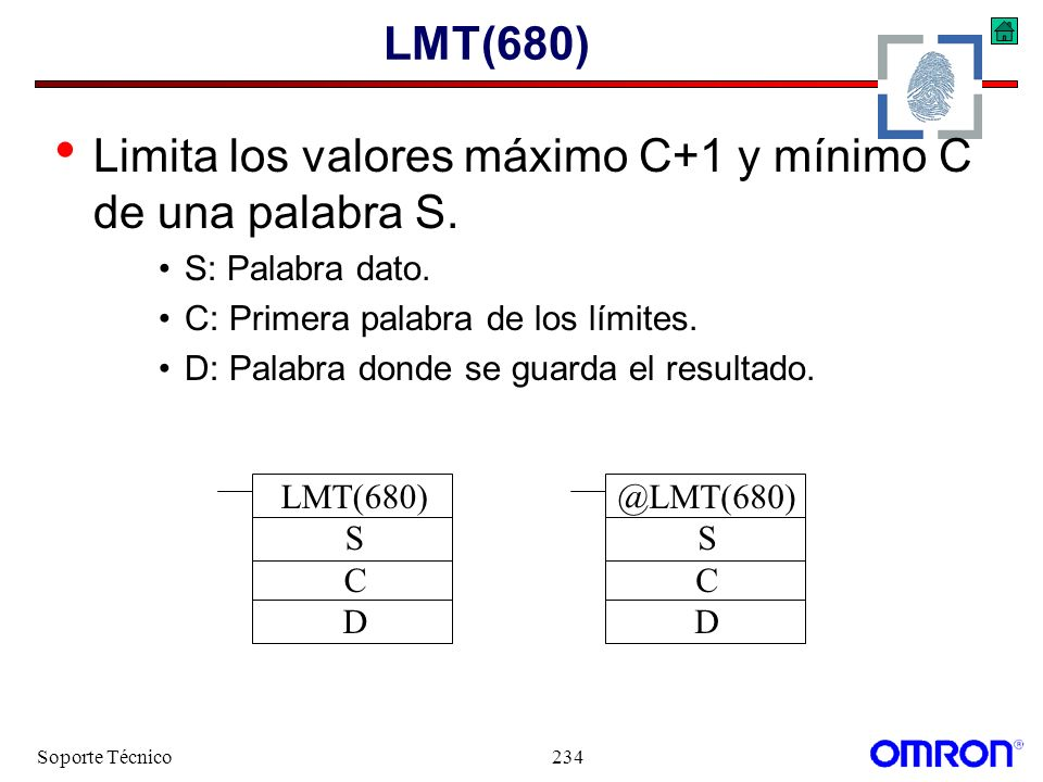 Limita los valores máximo C+1 y mínimo C de una palabra S.