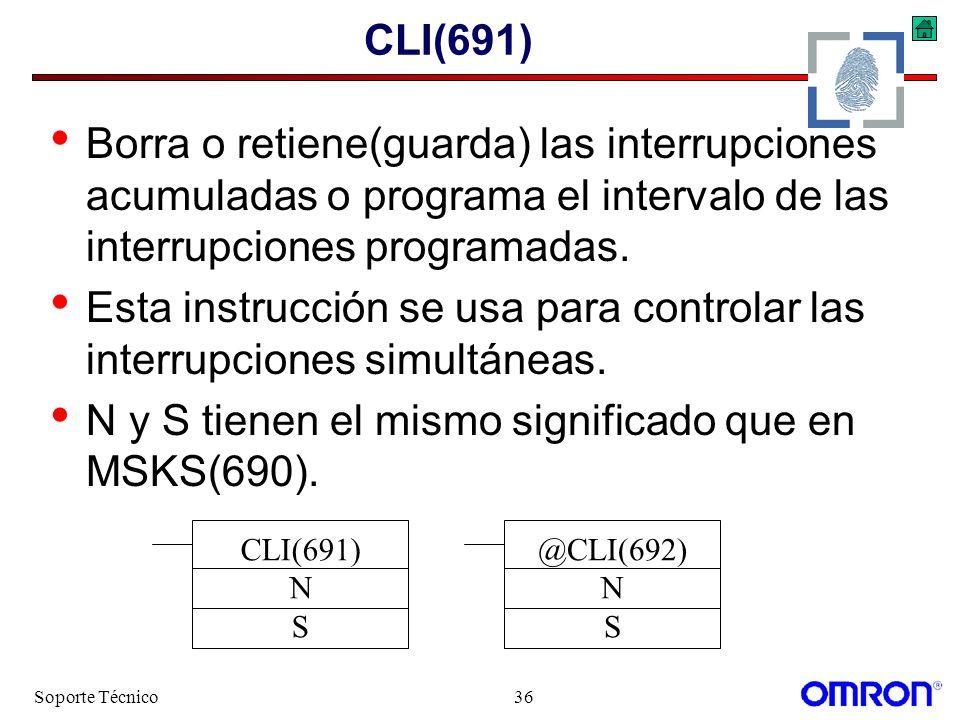 Esta instrucción se usa para controlar las interrupciones simultáneas.