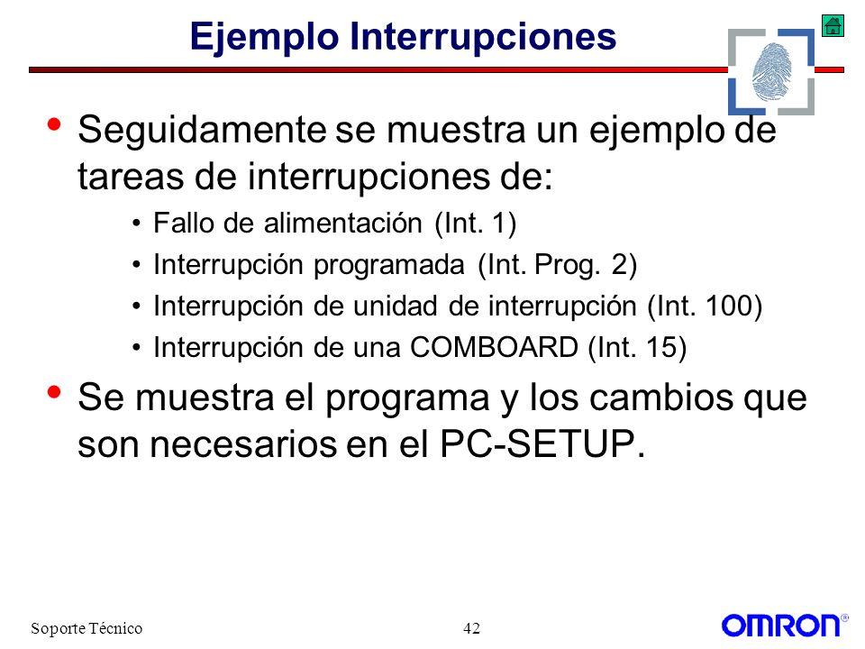 Ejemplo Interrupciones