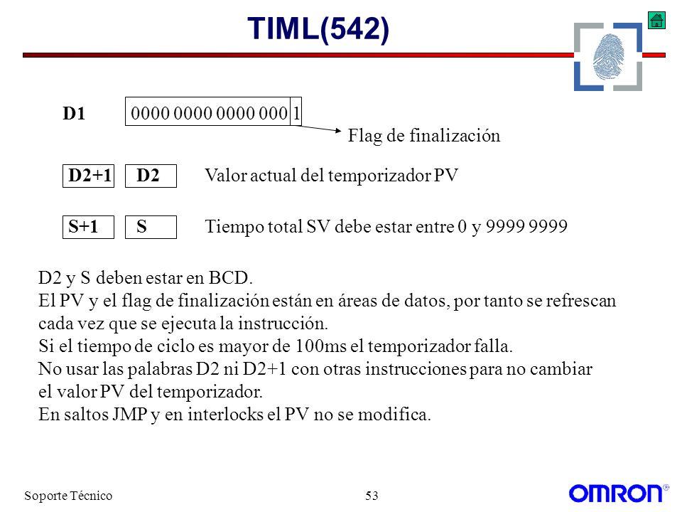 TIML(542) D1 0000 0000 0000 000 1 Flag de finalización