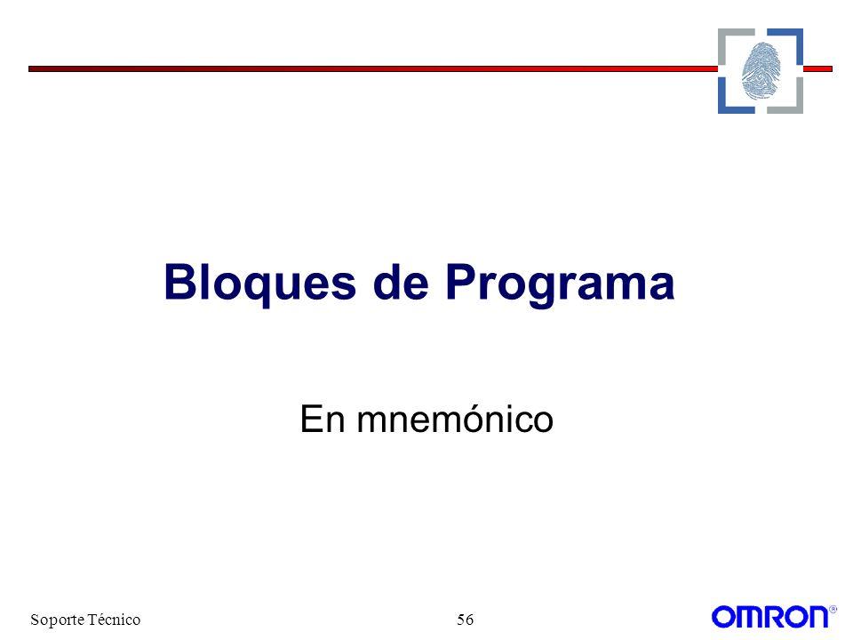 Bloques de Programa En mnemónico Soporte Técnico