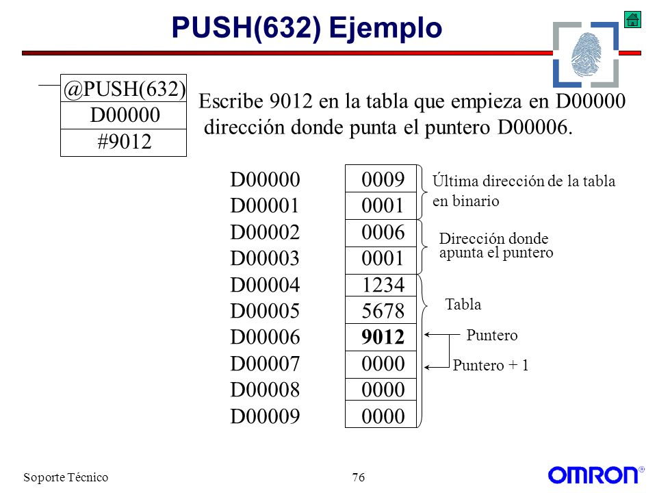 PUSH(632) Ejemplo @PUSH(632) D00000