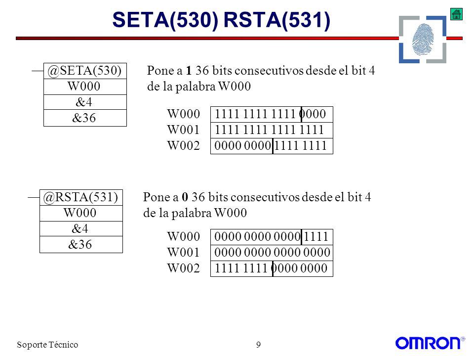 SETA(530) RSTA(531) @SETA(530) W000 &4 &36