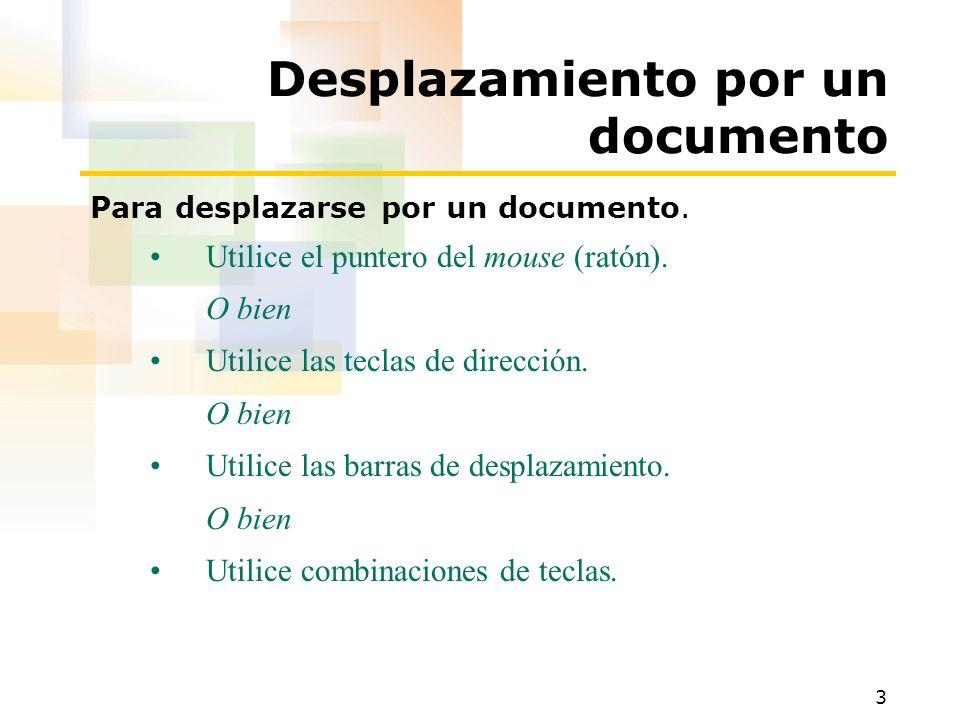 Desplazamiento por un documento