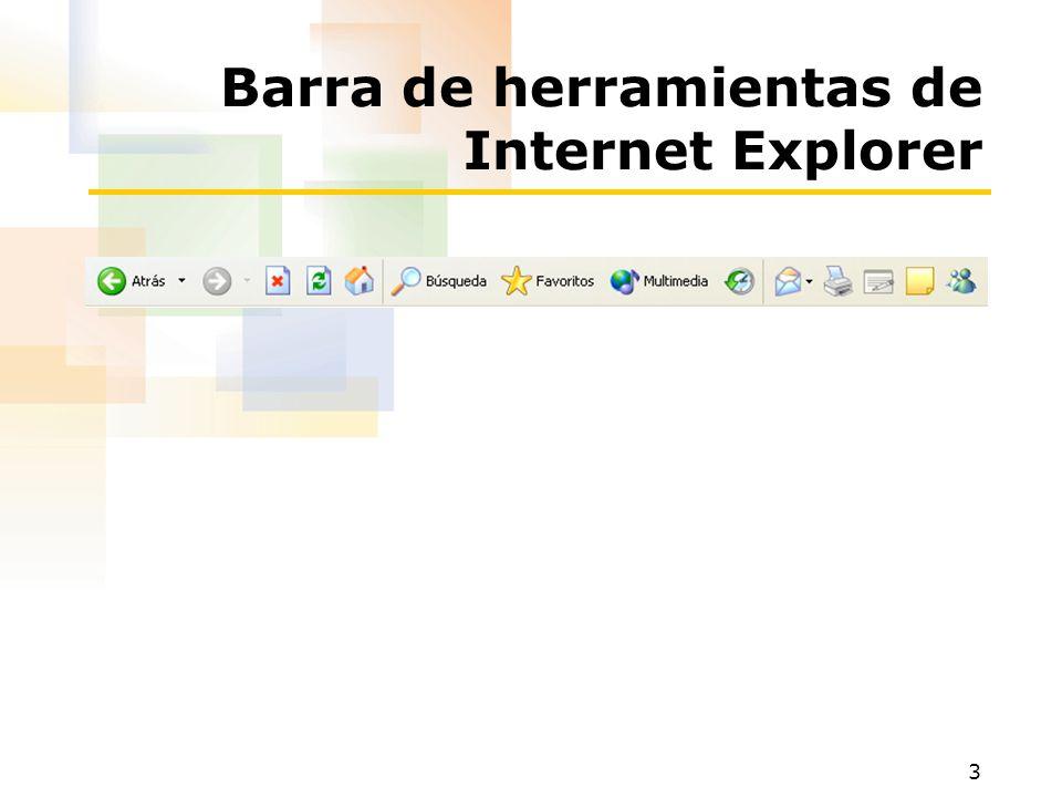 Barra de herramientas de Internet Explorer