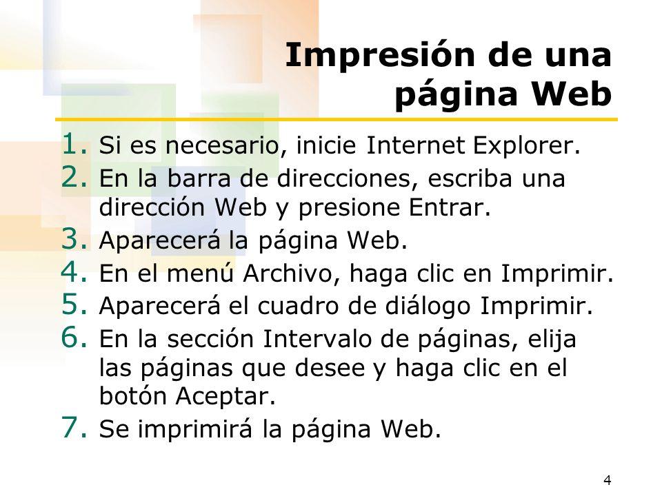 Impresión de una página Web