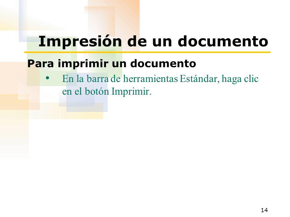 Impresión de un documento