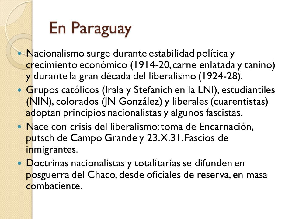 En Paraguay