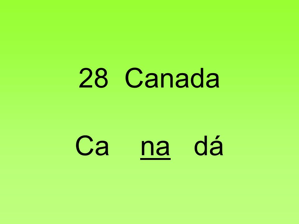 28 Canada Ca na dá
