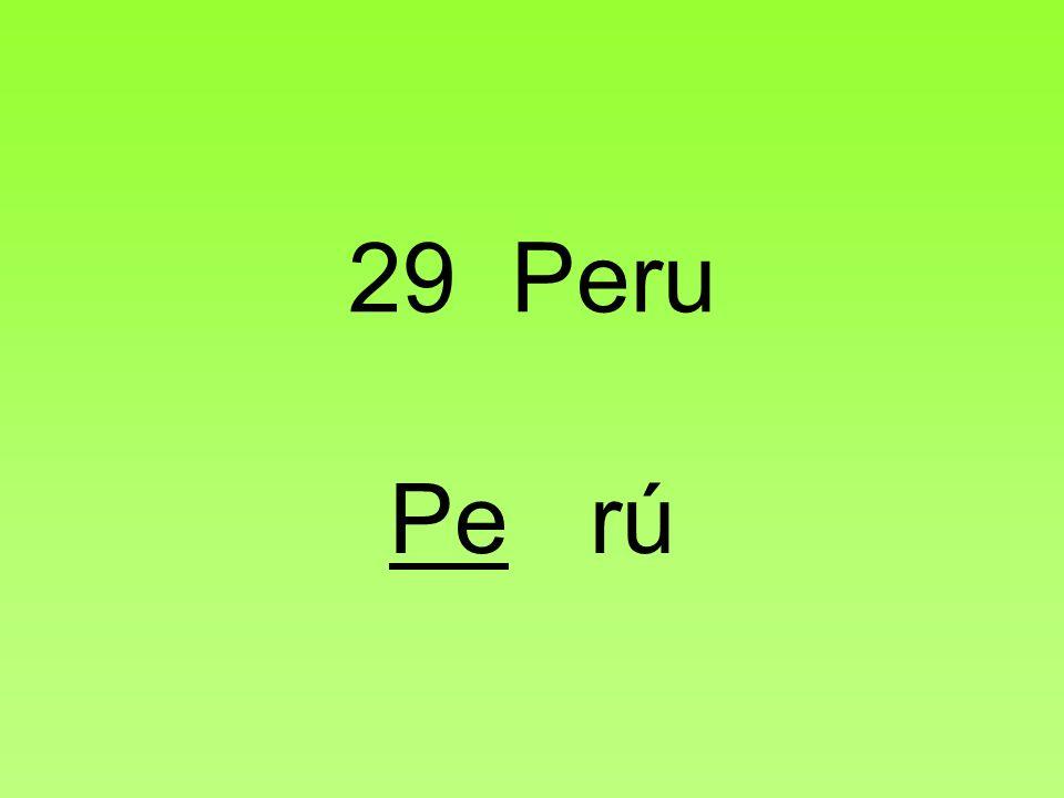 29 Peru Pe rú