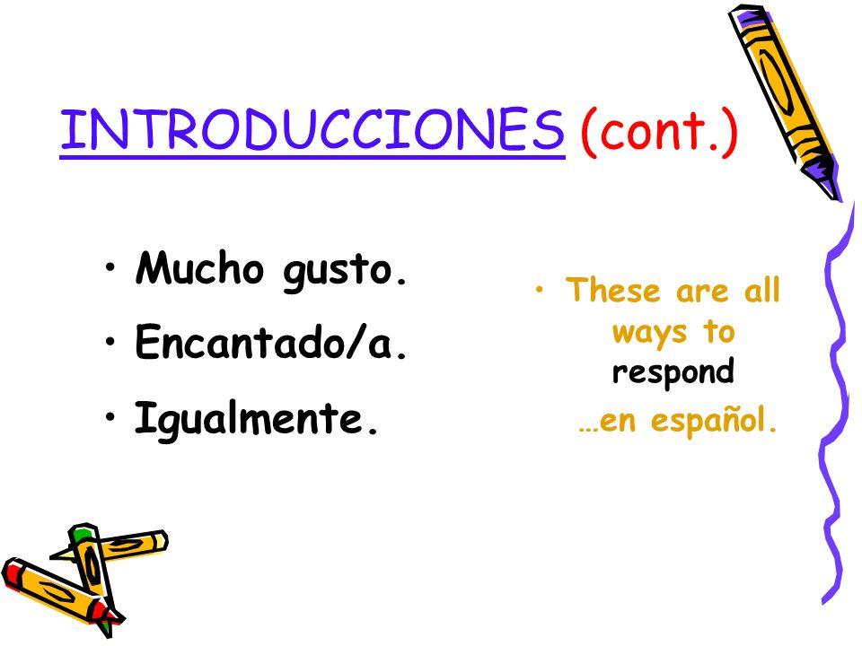 INTRODUCCIONES (cont.)
