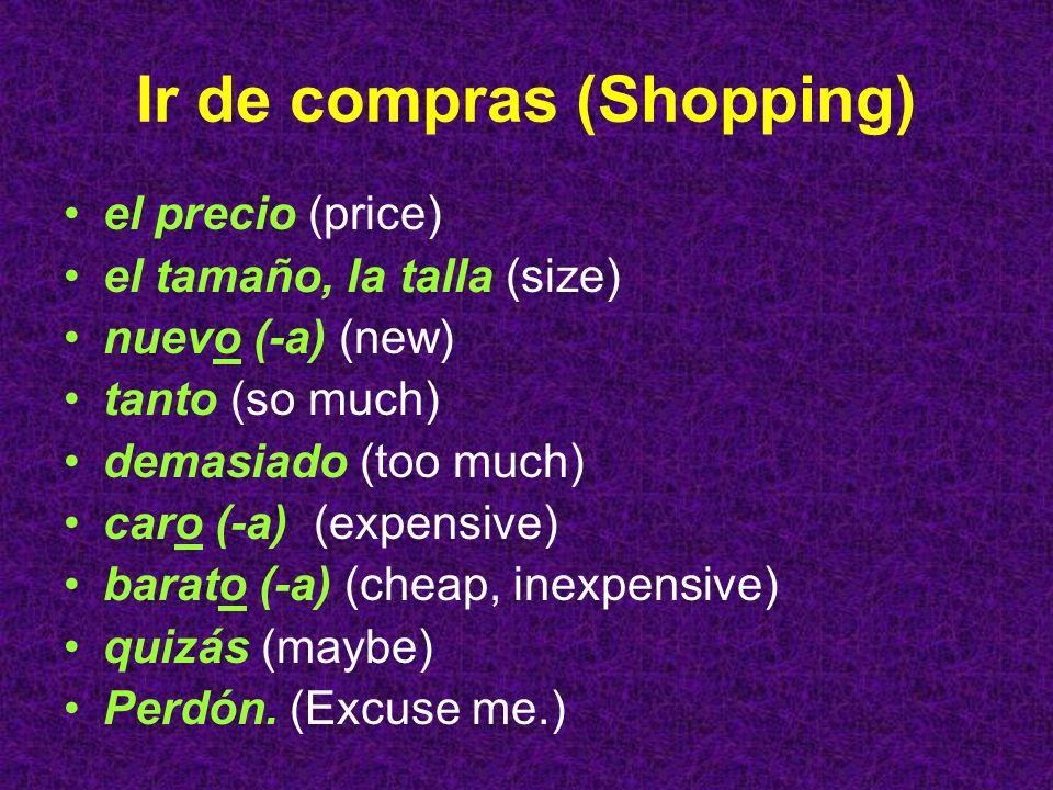 Ir de compras (Shopping)