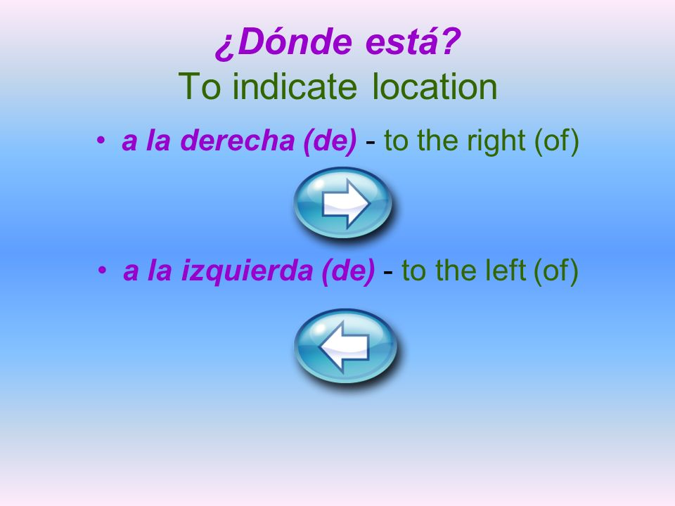 ¿Dónde está To indicate location