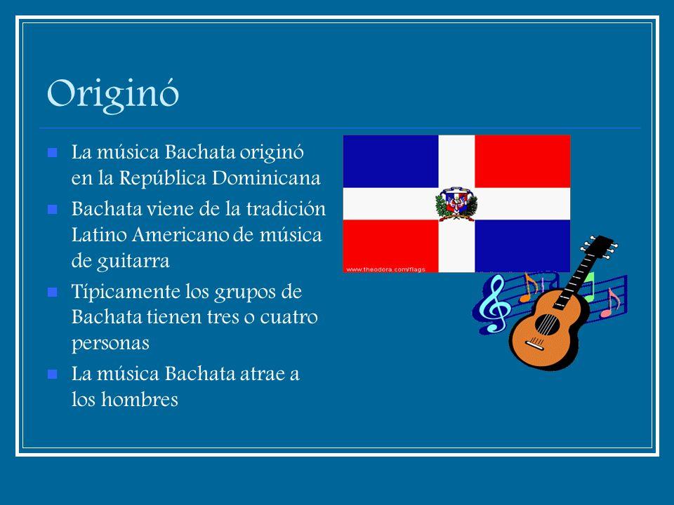 Originó La música Bachata originó en la República Dominicana