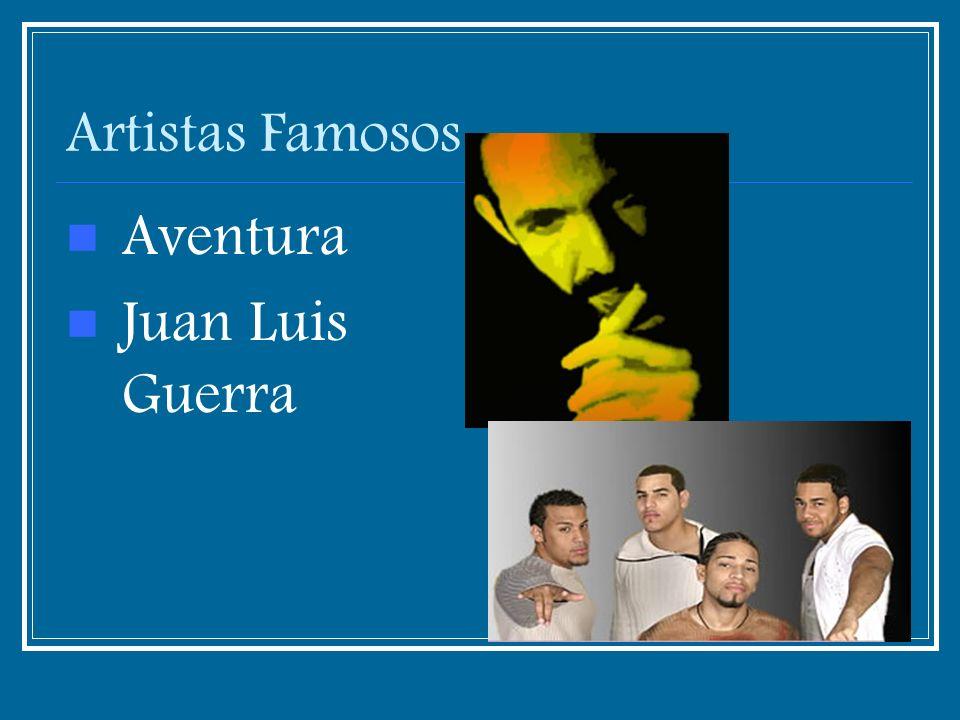 Artistas Famosos Aventura Juan Luis Guerra