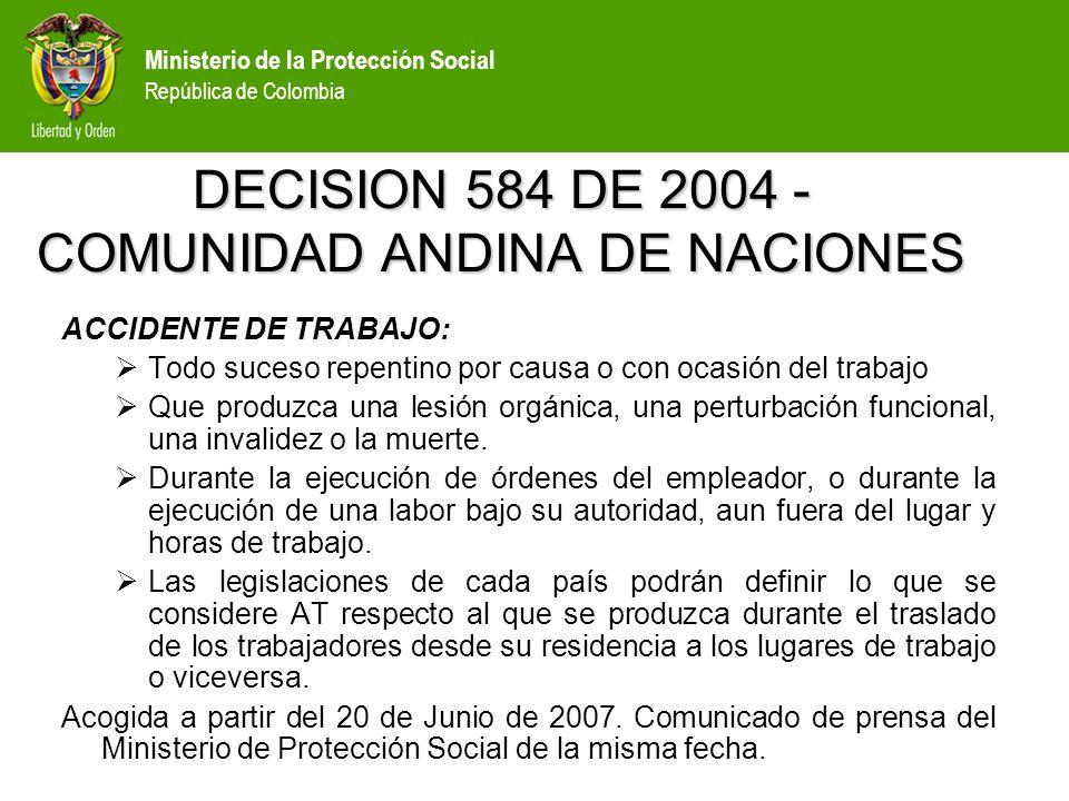Ministerio de la protecci n social rep blica de colombia for Fuera de serie bogota empleo