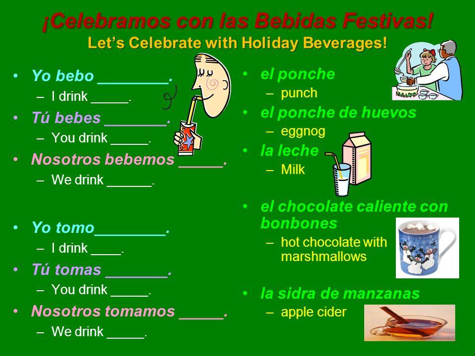 ¡Celebramos con las Bebidas Festivas