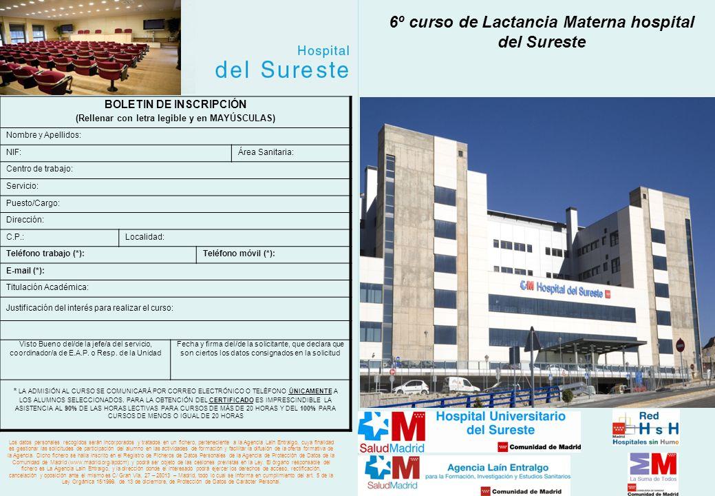 6º curso de Lactancia Materna hospital del Sureste