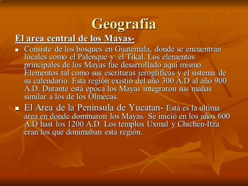 Geografía El area central de los Mayas-