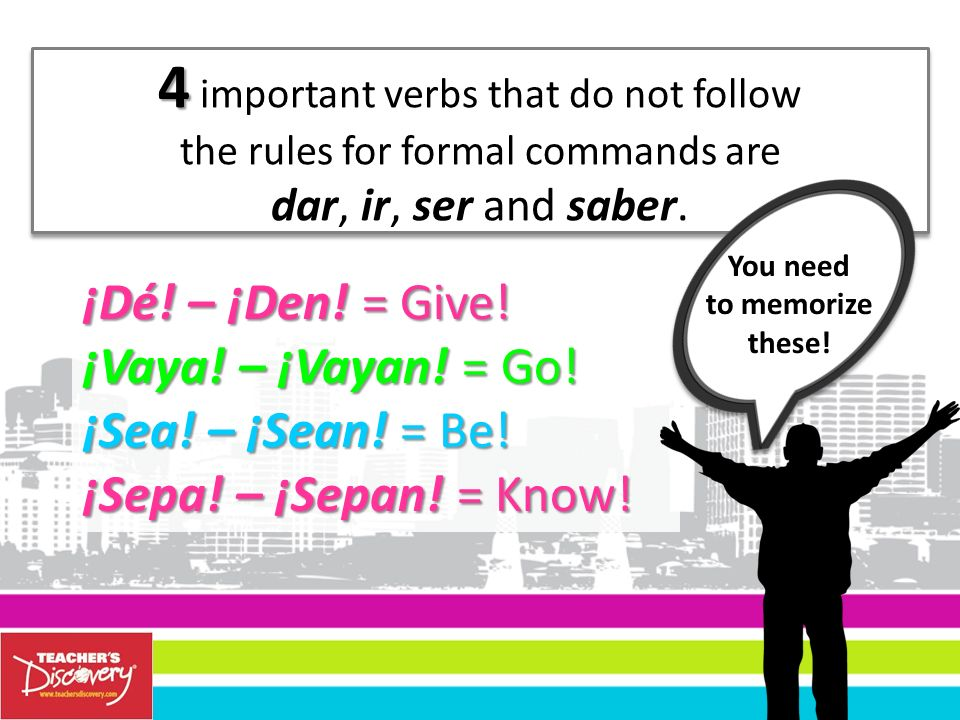 4 important verbs that do not follow
