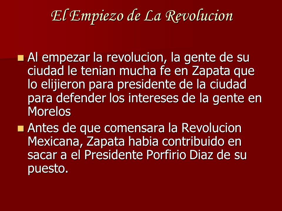 El Empiezo de La Revolucion