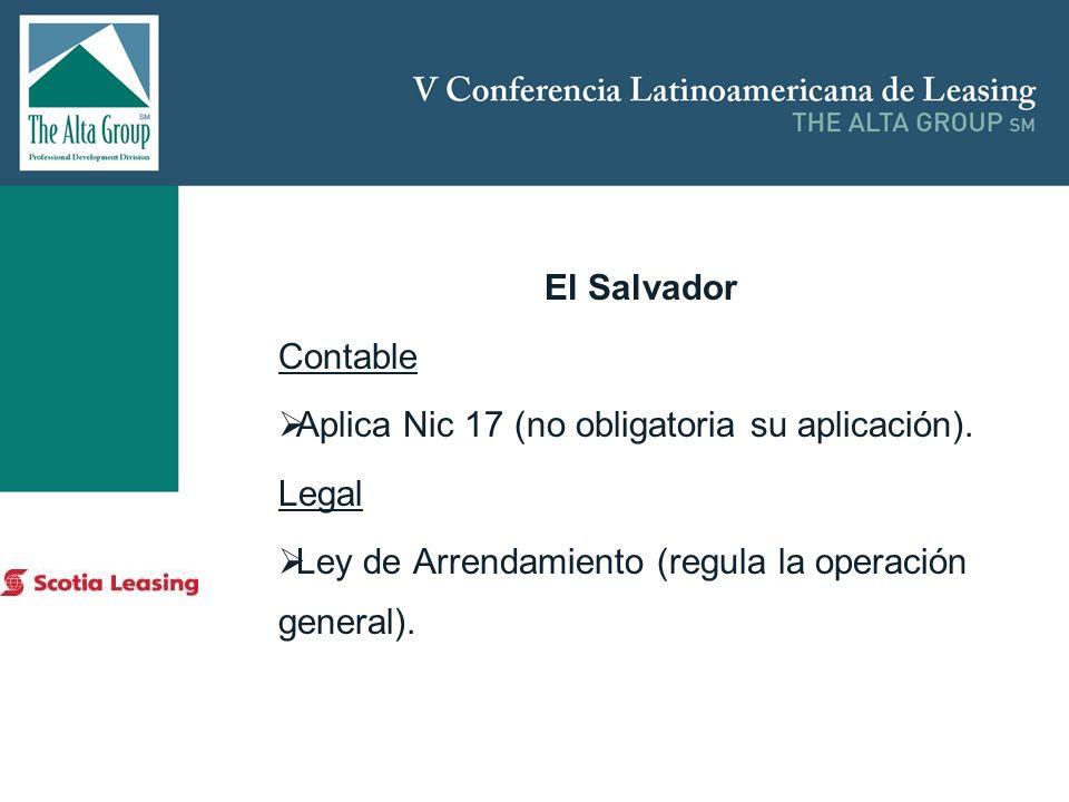 Aplica Nic 17 (no obligatoria su aplicación). Legal