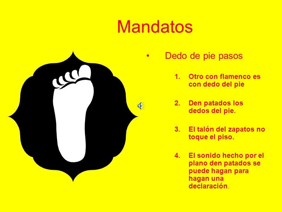 Mandatos Dedo de pie pasos Otro con flamenco es con dedo del pie