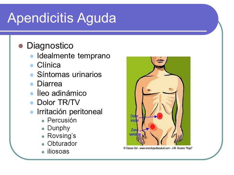 Apendicitis Aguda Diagnostico Idealmente temprano Clínica