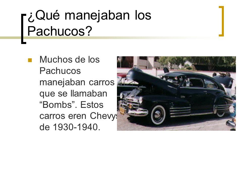 ¿Qué manejaban los Pachucos