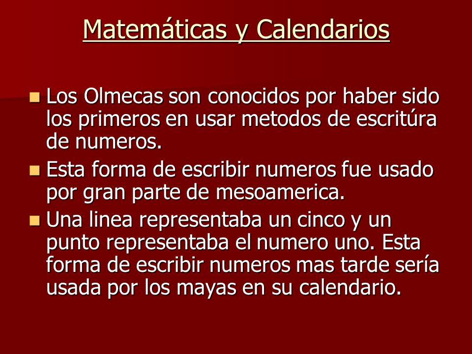 Matemáticas y Calendarios