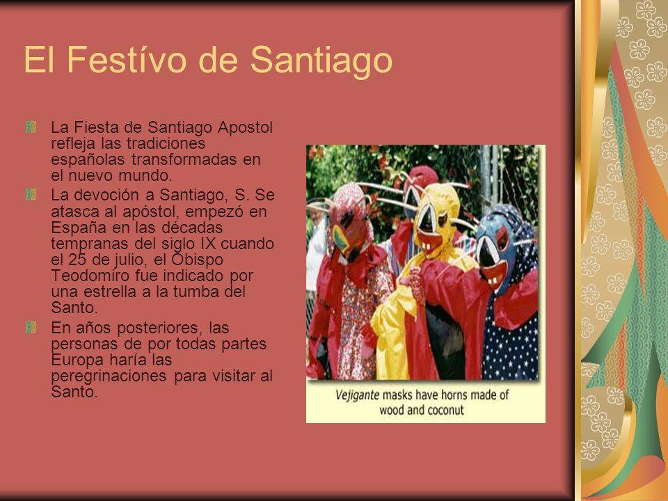 El Festívo de Santiago La Fiesta de Santiago Apostol refleja las tradiciones españolas transformadas en el nuevo mundo.