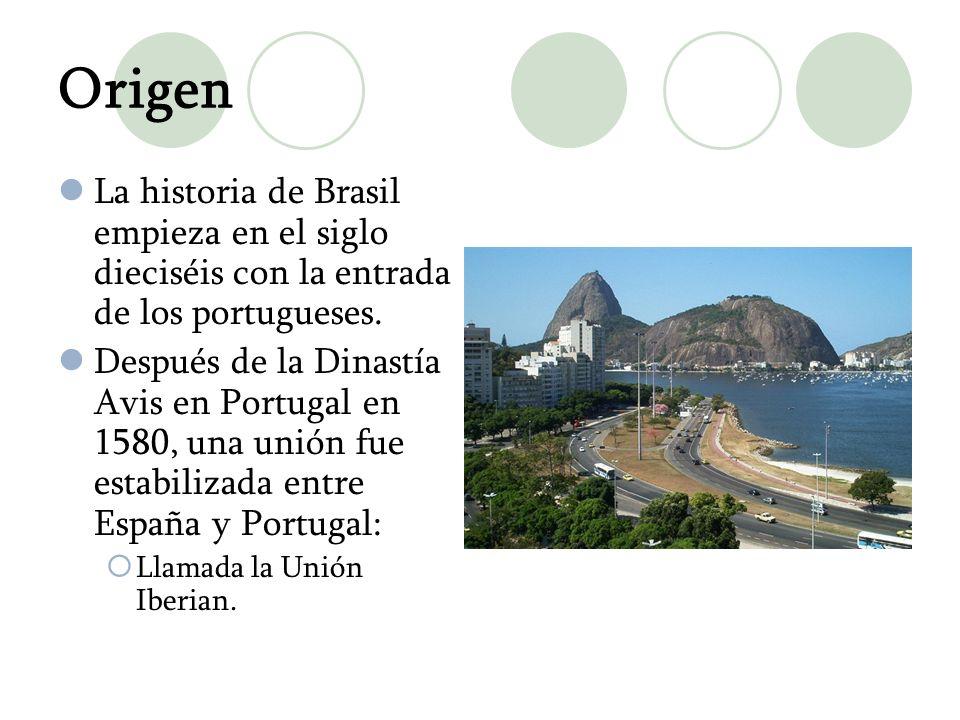 OrigenLa historia de Brasil empieza en el siglo dieciséis con la entrada de los portugueses.