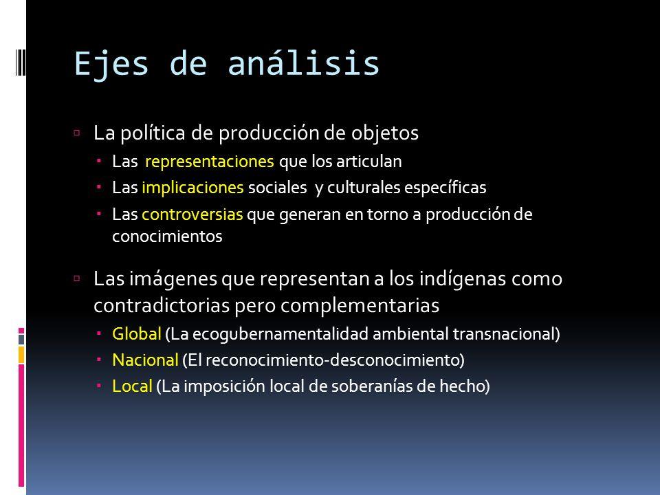 Ejes de análisis La política de producción de objetos