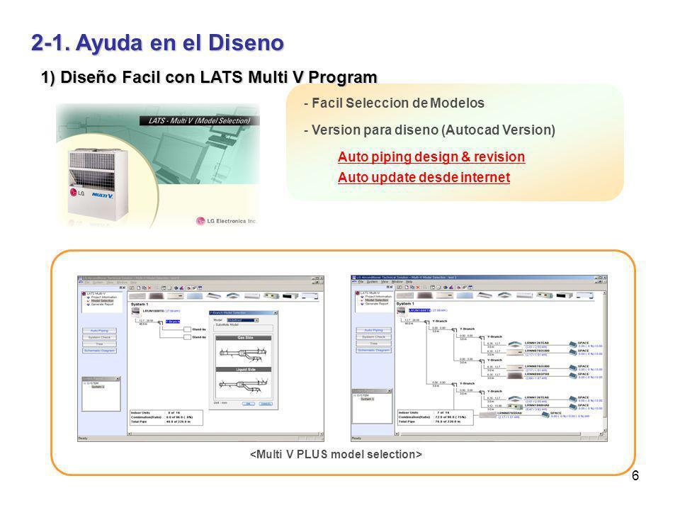 2-1. Ayuda en el Diseno 1) Diseño Facil con LATS Multi V Program