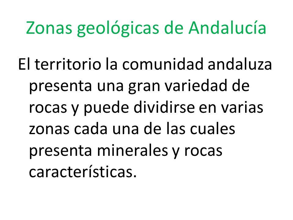 Zonas geológicas de Andalucía
