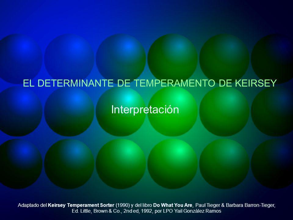 EL DETERMINANTE DE TEMPERAMENTO DE KEIRSEY