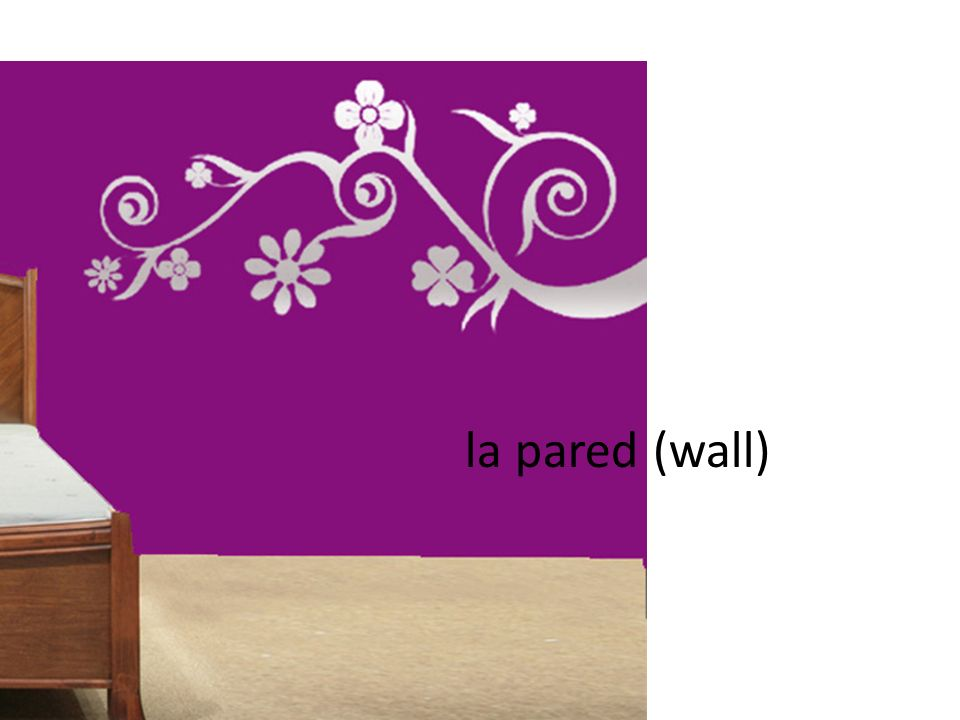 la pared (wall)