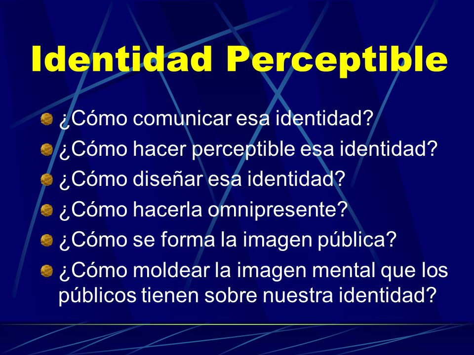 Identidad Perceptible