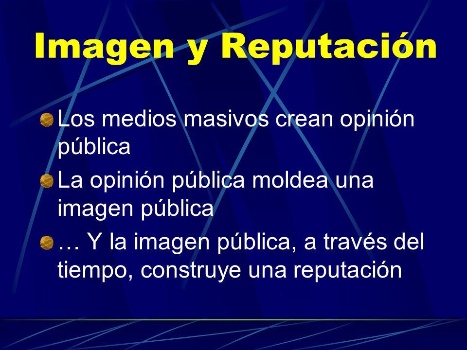 Imagen y Reputación Los medios masivos crean opinión pública