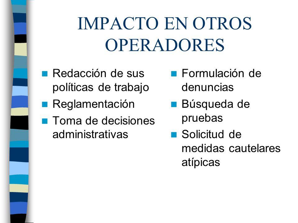 IMPACTO EN OTROS OPERADORES