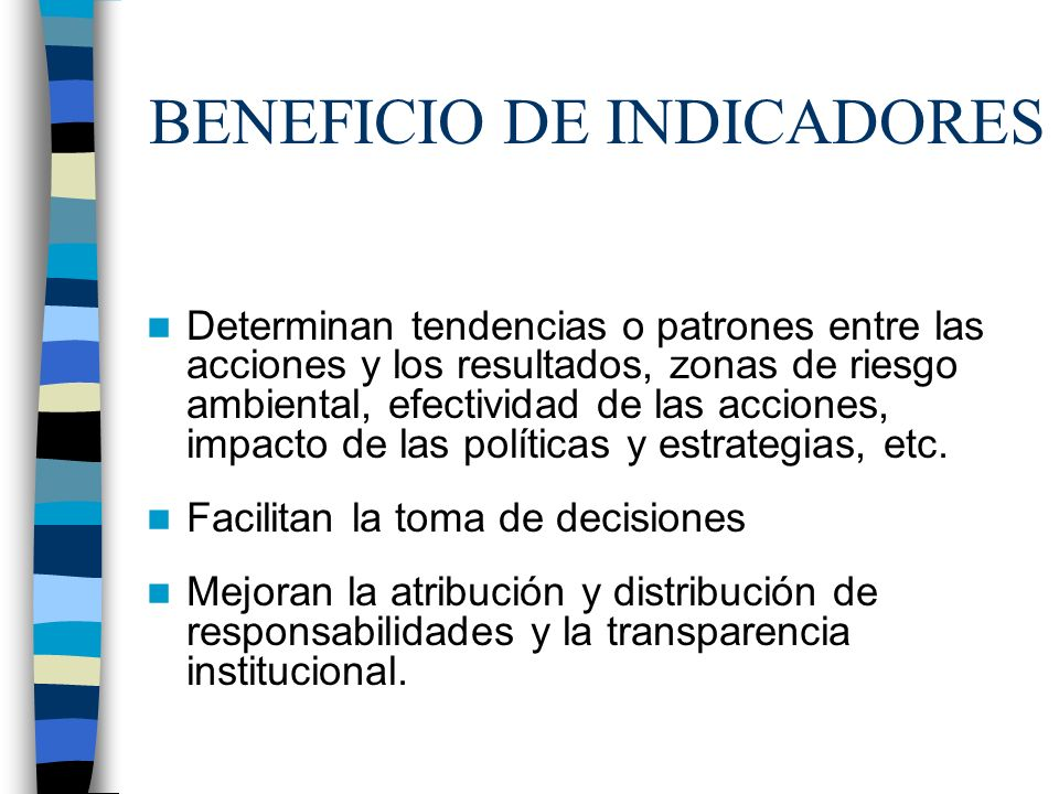 BENEFICIO DE INDICADORES