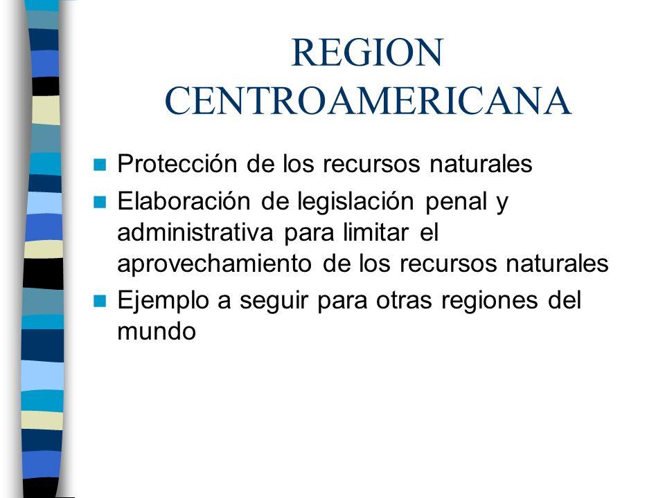REGION CENTROAMERICANA