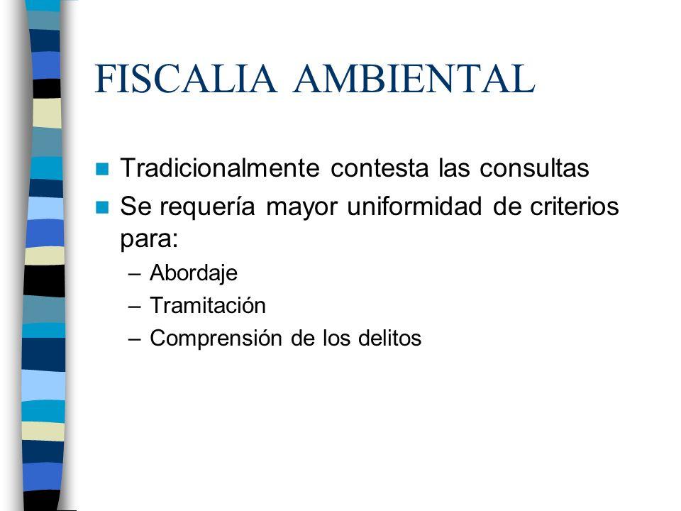 FISCALIA AMBIENTAL Tradicionalmente contesta las consultas