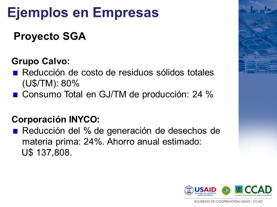 Ejemplos en Empresas Proyecto SGA Grupo Calvo: