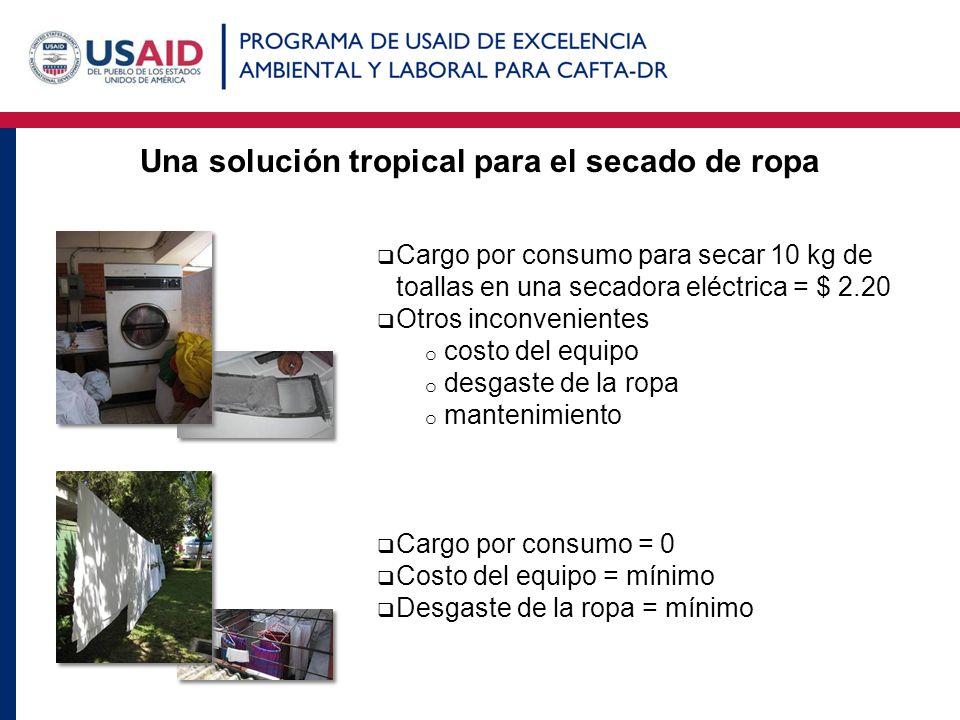 Una solución tropical para el secado de ropa